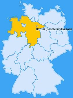 Karte von Barum (Landkreis Uelzen)