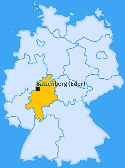 Karte von Battenberg (Eder)