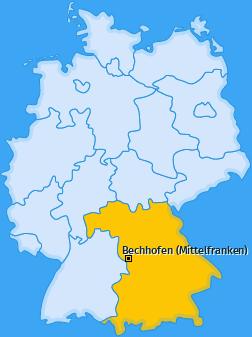 Karte von Bechhofen (Mittelfranken)