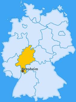 Karte von Bensheim