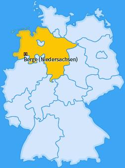 Karte von Berge (Niedersachsen)