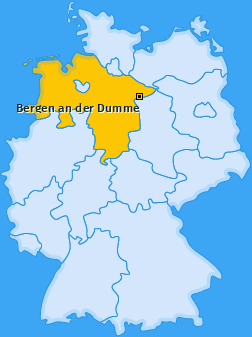 Karte von Bergen an der Dumme