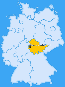Karte Großensee Werra-Suhl-Tal