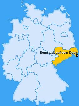 Karte von Bernstadt auf dem Eigen