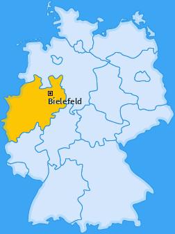 Karte von Bielefeld