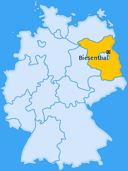 Karte von Biesenthal