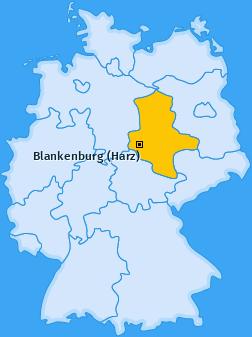 Karte von Blankenburg (Harz)
