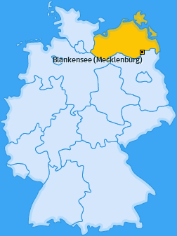 Karte von Blankensee (Mecklenburg)