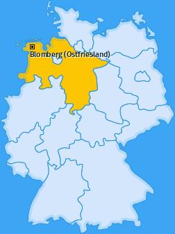Karte von Blomberg (Ostfriesland)