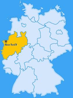 Karte von Bocholt