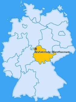 Karte von Bodenrode-Westhausen