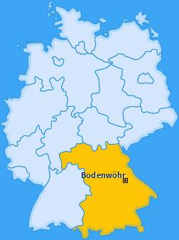 Karte von Bodenwöhr