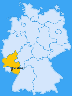 Karte von Börsborn