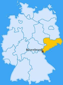 Karte von Bösenbrunn