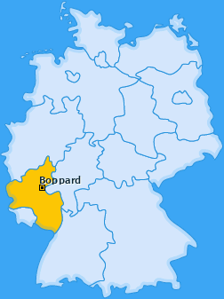 Karte Hirzenach Boppard
