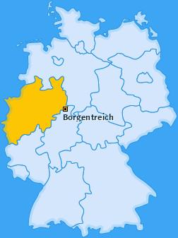 Karte von Borgentreich