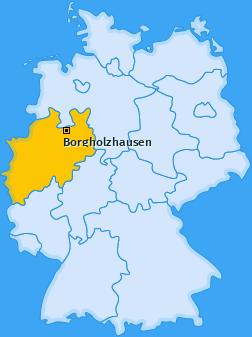 Karte von Borgholzhausen