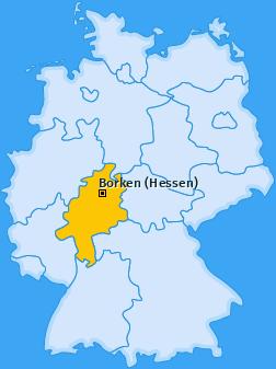 Karte von Borken (Hessen)