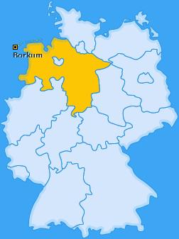 Karte von Borkum
