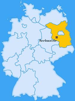 Karte von Borkwalde