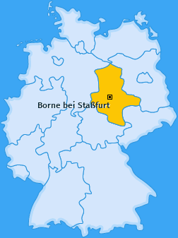 Karte von Borne bei Staßfurt