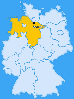 Karte von Brackel