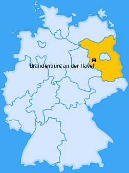 Karte Plaue Brandenburg an der Havel