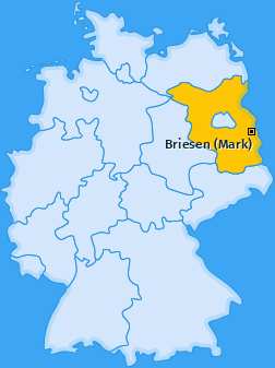 Karte Kersdorf Briesen (Mark)