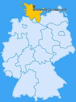 Karte von Brodersby (Schwansen)