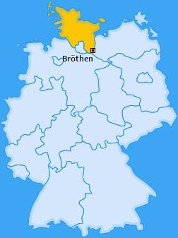 Karte von Bröthen