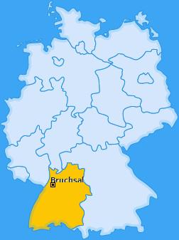 Karte von Bruchsal