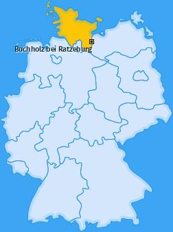 Karte von Buchholz bei Ratzeburg