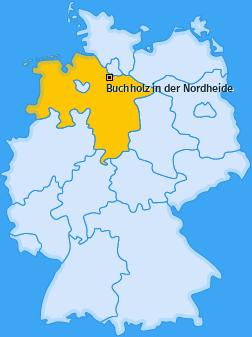 Karte von Buchholz in der Nordheide