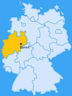Karte von Büren