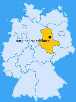 Karte von Burg bei Magdeburg