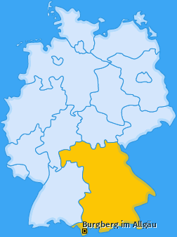 Karte von Burgberg im Allgäu