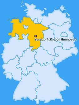 Karte von Burgdorf (Region Hannover)