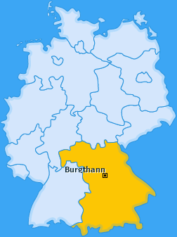 Karte Schwarzenbach bei Nürnberg Burgthann
