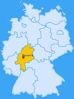 Karte von Buseck