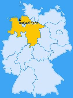 Karte von Butjadingen