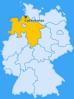 Karte von Cadenberge