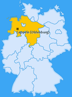 Karte von Cappeln (Oldenburg)