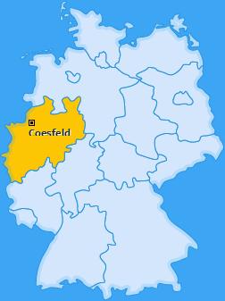 Karte von Coesfeld