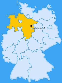 Karte Oerrel bei Wittingen Dedelstorf