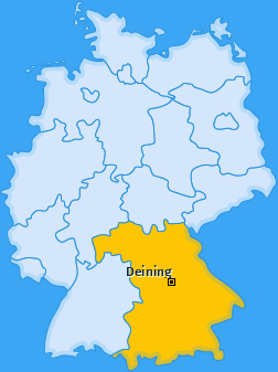 Karte von Deining