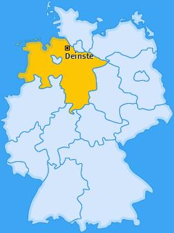 Karte von Deinste