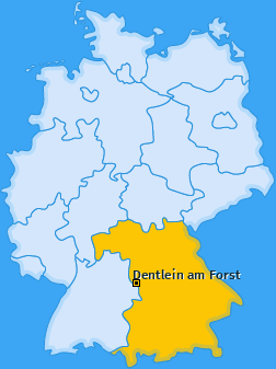 Karte von Dentlein am Forst