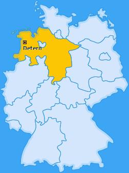 Karte von Detern