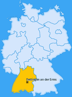 Karte von Dettingen an der Erms