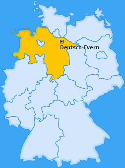 Karte von Deutsch Evern